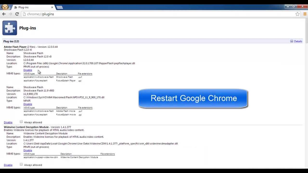 how to turn on flash on chrome