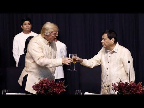"""Thousands Protest in Manila as Trump Hails """"Great Relationship"""" with Philippines President Duterte"""
