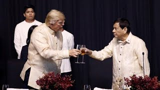 "Thousands Protest in Manila as Trump Hails ""Great Relationship"" with Philippines President Duterte"