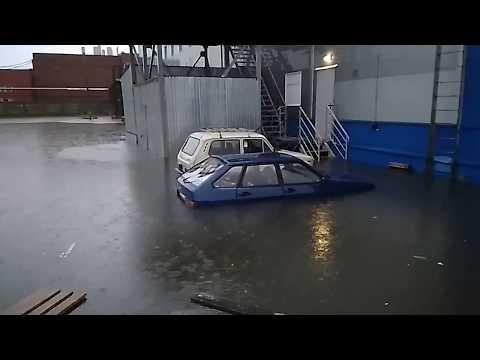 Потоп в Вятских Полянах 19 июля 2018