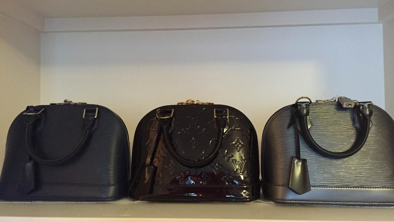 2ddf86682911 Louis Vuitton Alma BB Review! Indigo and Anthricite Epi and Amarante  Vernis!!!