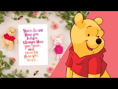 Winnie The Pooh Brush Lettering   Disney Family