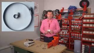 видео Хомут ленточный стальной (ШРУС) комплект