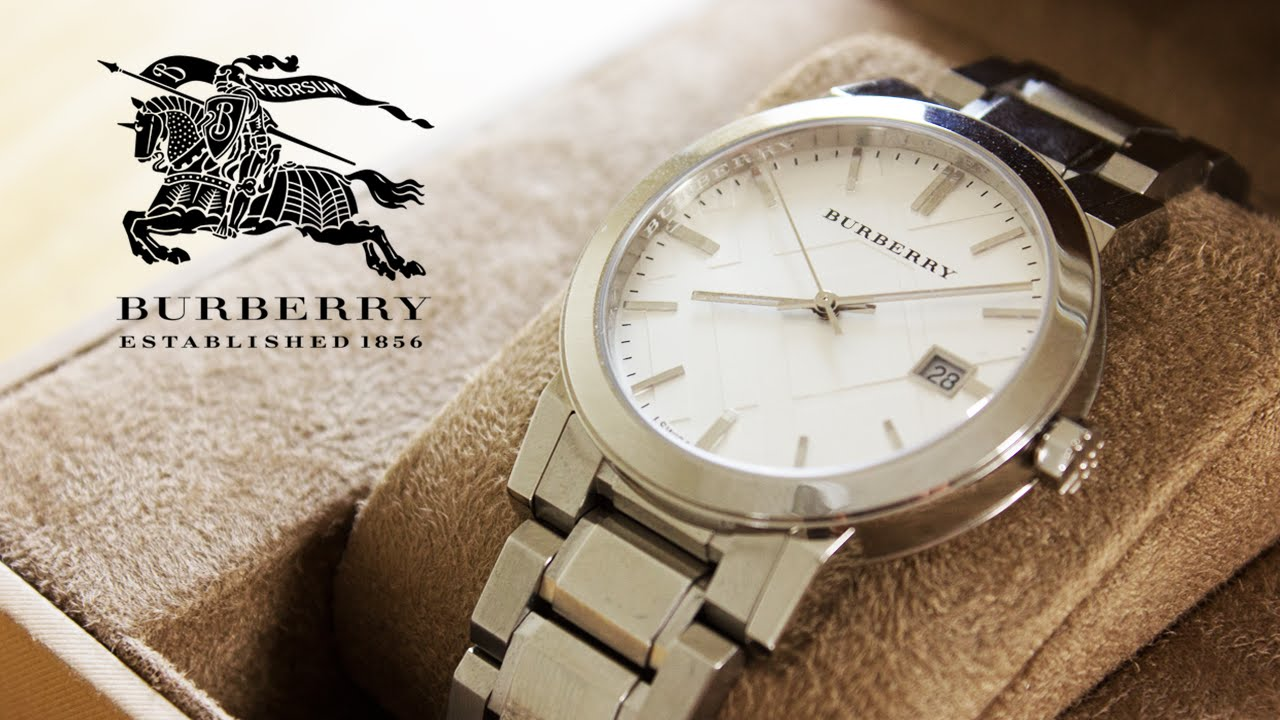 Burberry watch unboxing luxury watch review youtube for Burberry watches