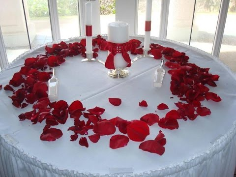 White Rose Petal Centerpiece Decor