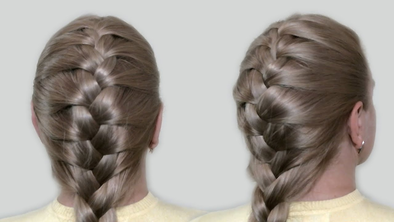 Classic French Braid by Yourself Tutorial Hairstyles for Medium