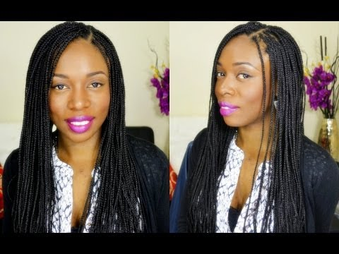 How To Box Braids Protective Style On Natural Hair YouTube