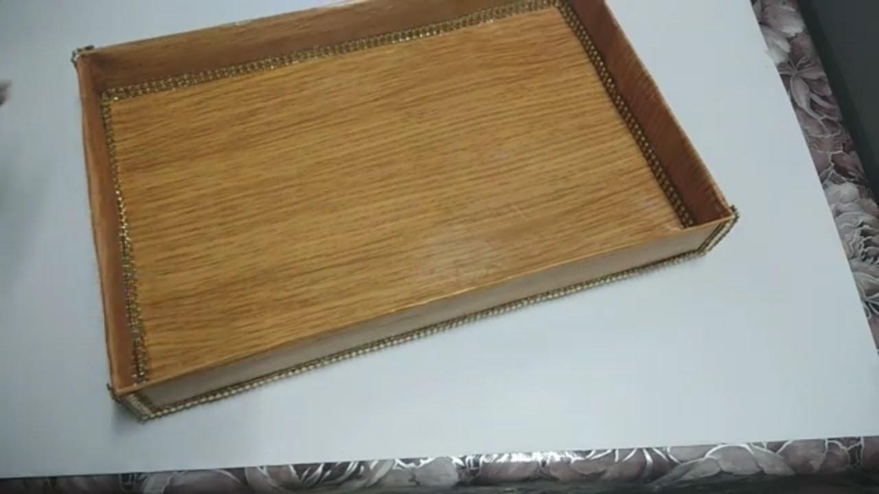 Diy Wooden Tray From Cardboard Home Decor Ideas Beautiful