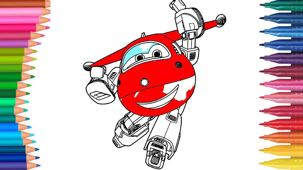 Super Wings Jet Hogi rysunku Kolorowanka