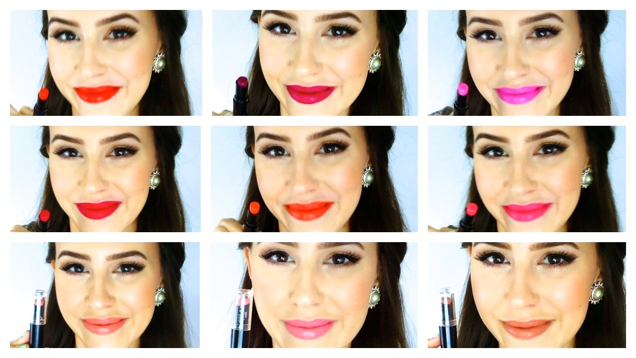 Wet n Wild Megalast Lipstick - 16 Lip Swatches - YouTube