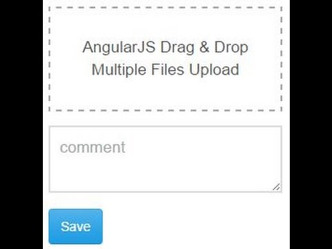 AngularJS Drag & Drop Multiple Files Upload