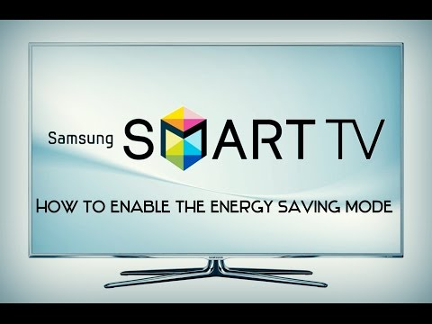 Samsung Smart TV  - How to enable the Energy Saving mode