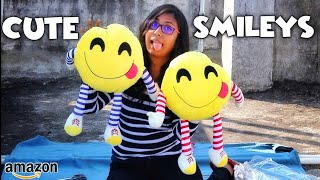 Smiley Pillow With Hand And Legs Unboxing Smiley Cushions Unboxing Emoji Pillow Unboxing Hindi