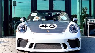 Overview of this 2019 502 hp GT Silver Porsche 911 Speedster Heritage Design Package