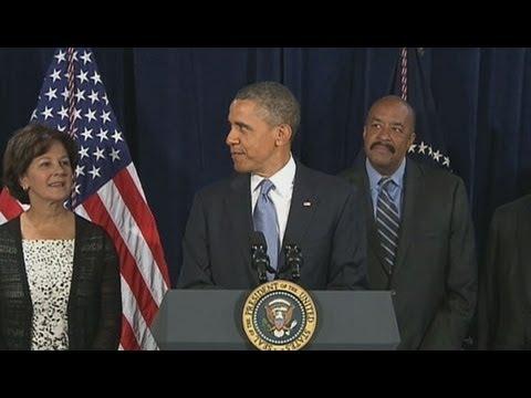 President Obama Arrives for Speech ... But Something's Missing