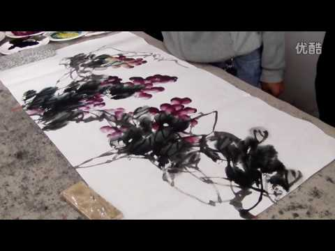 Chinese Art Grape Paintings by Gu Chengxi Artist