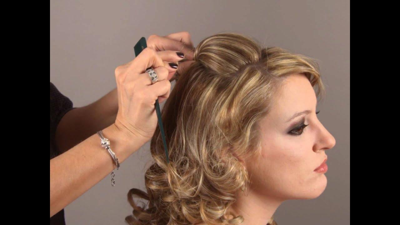 Peinados medio recogidos con bucles for Imagenes semirecogidos