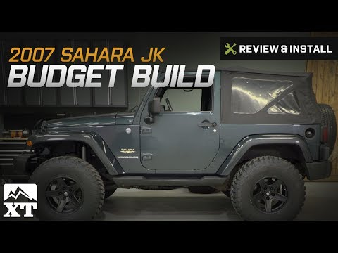 "Jeep Wrangler (2007-2017 JK) 3.25"" RC Lift Kit, 35"" Tires & Grab Handles Review & Install"