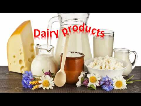 Dairy products Vocabularies for kids infants toddlers kindergarteners preschoolers