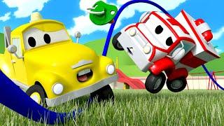 малыши в Автомобильном Городе - ИНЦИДЕНТ со скакалкой - детский мультфильм
