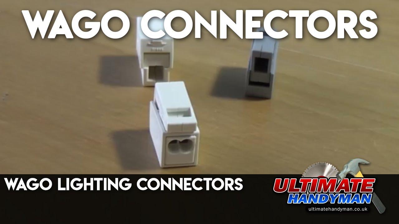 Wago lighting connectors Ultimate Handyman DIY tips - YouTube