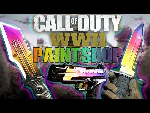 how to CREATE YOUR OWN PAINT JOBS COD WW2!! *new* UPDATED Emblem Gallery, Glitched Camo Variant!