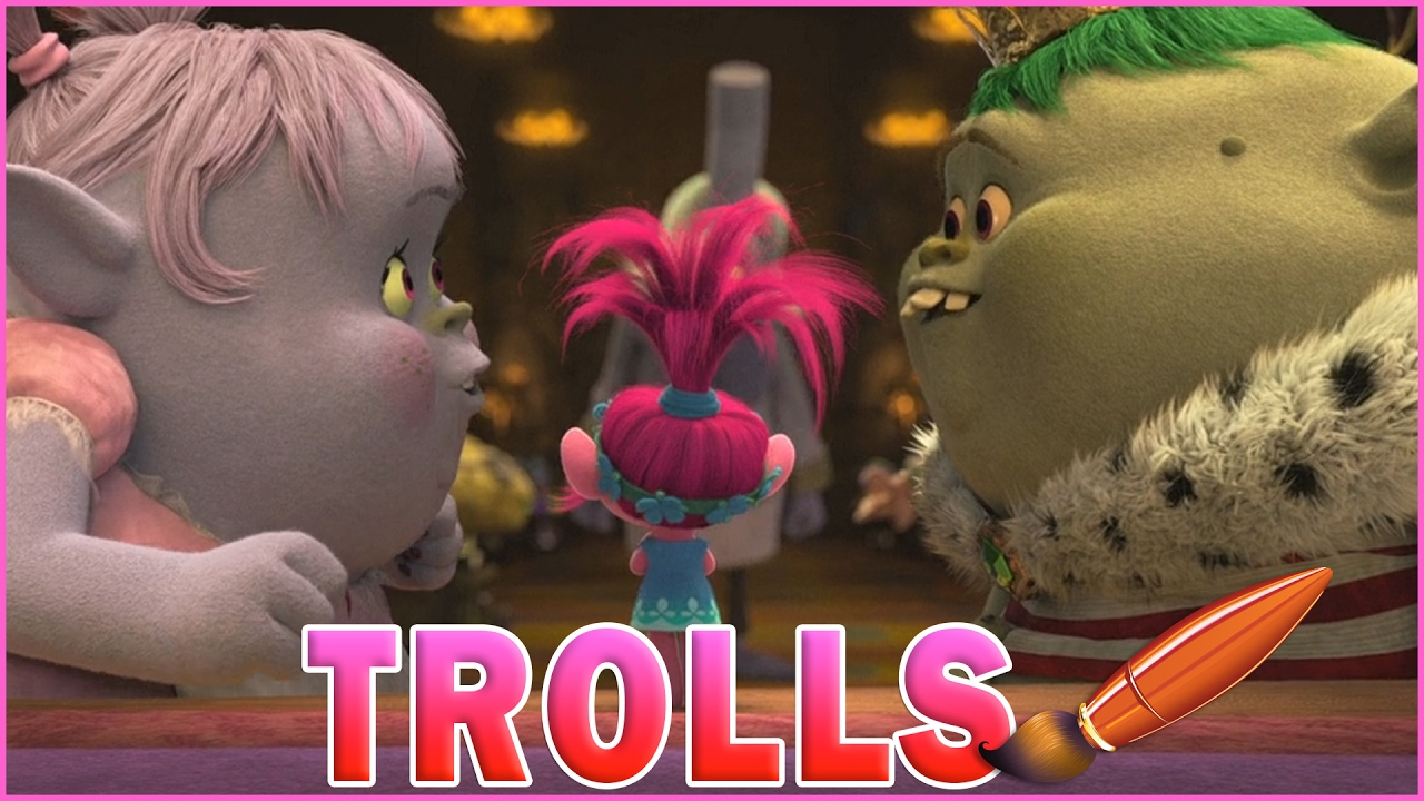 Coloring Pages Trolls : Trolls movie bridget king gristle fall in love kids coloring