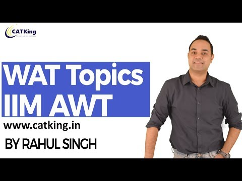 WAT topics for IIMs ( AWT - IIM)