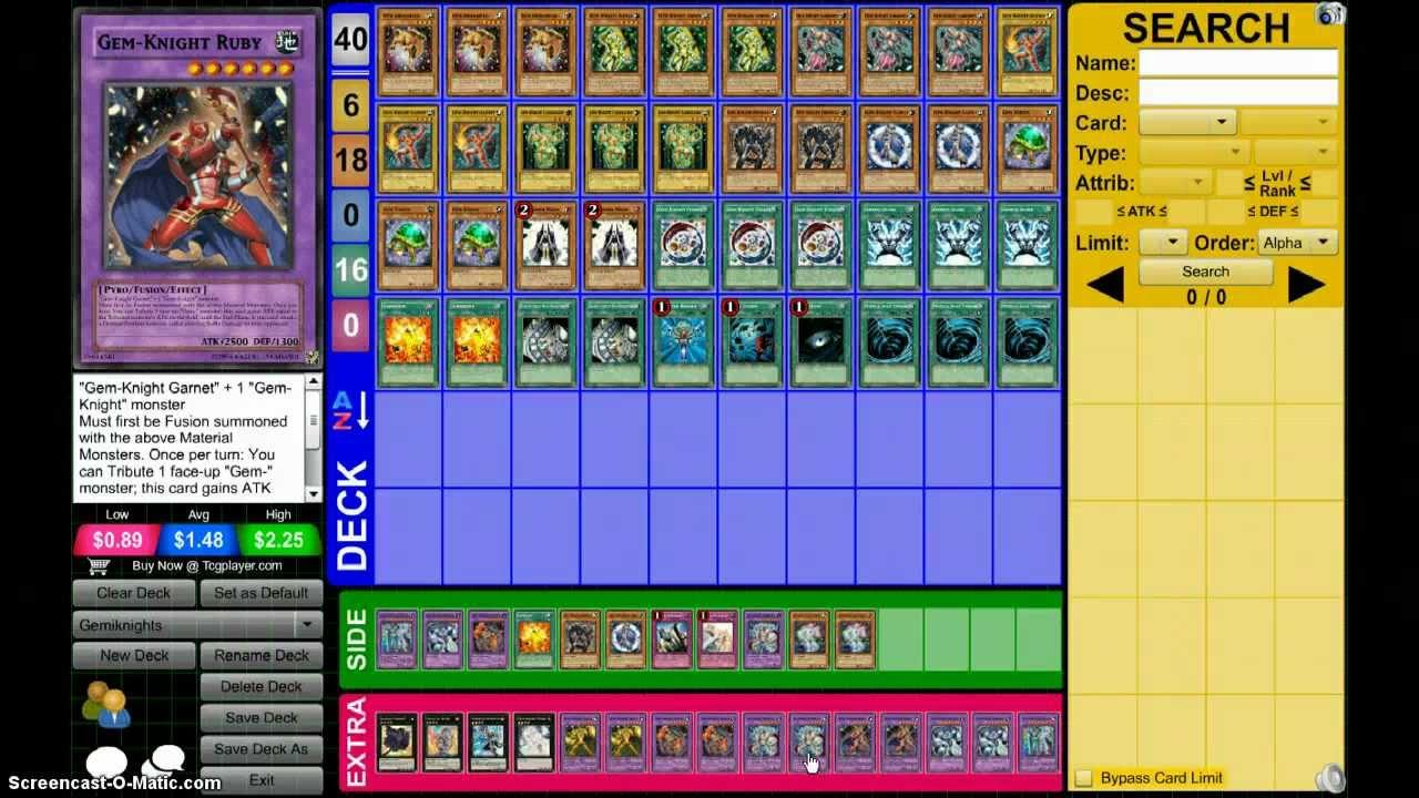gem knight deck