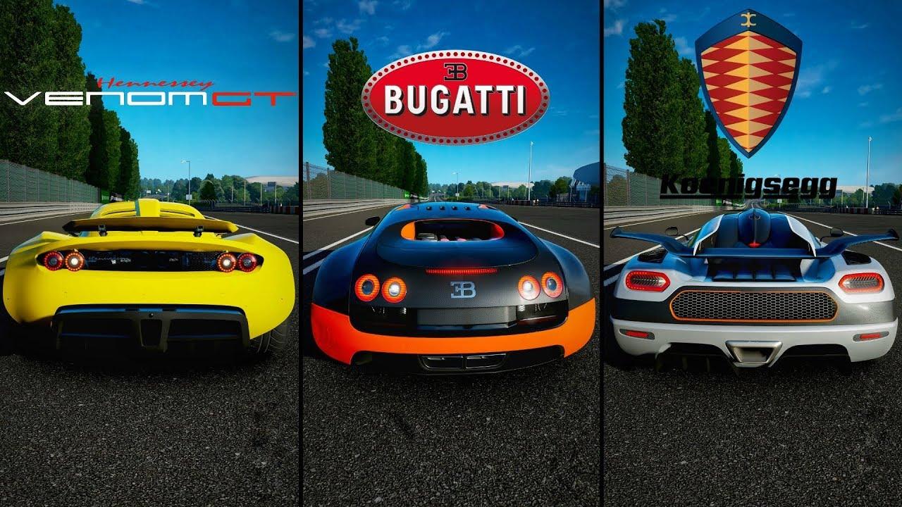 forza motorsport 7 - hennessey venom gt vs. bugatti veyron vs
