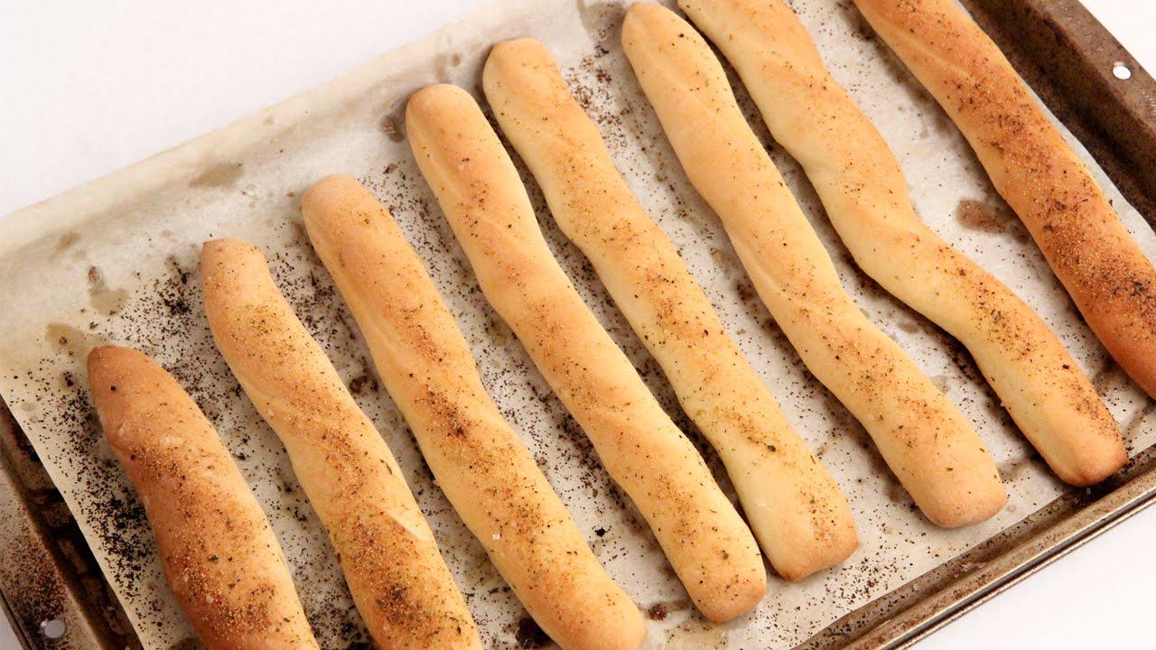 Homemade Breadsticks Recipe Laura Vitale Laura In T