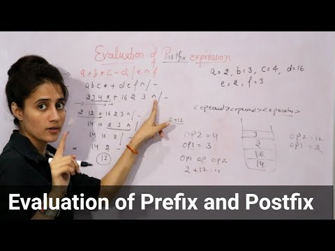 3.9 Evaluation of Prefix and Postfix expressions using stack | Data structures