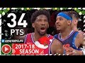 Joel Embiid Full Highlights vs Thunder (2017.12.15) - 34 Pts, 8 Reb, 48 MINUTES!