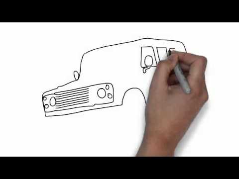 How To Draw Landrover Youtube