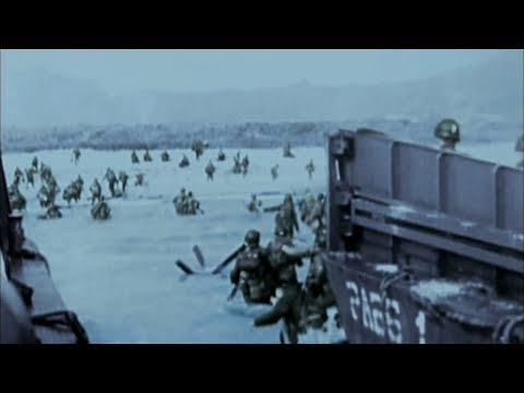 WW2 - D-Day. Invasion of Normandy [Real Footage in Color]