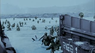 WW2 - D-Day. Invasion of Normandy [Real Footage in Colour]