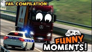 Euro Truck Simulator 2 Multiplayer | Funny Moments & Crash Compilation | #47