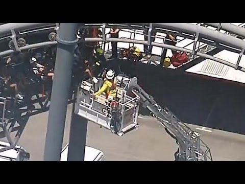 20 stuck upside down on Australian roller coaster