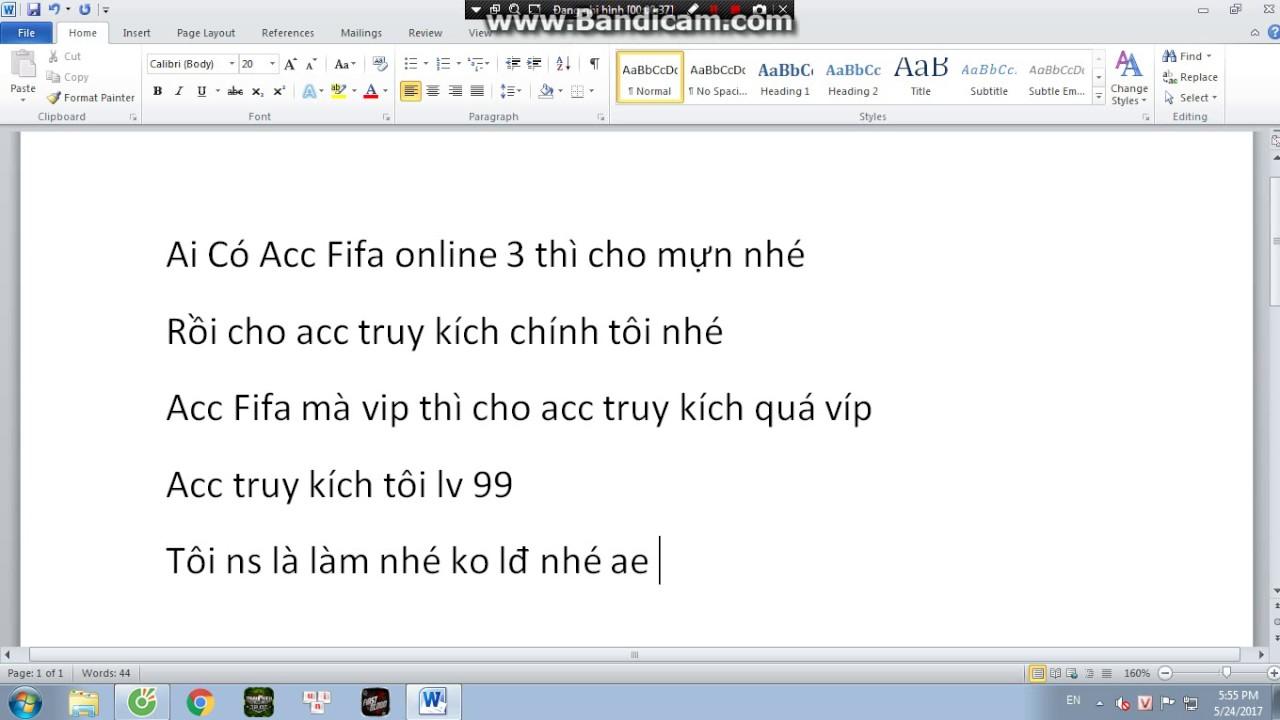 Cho tôi nik fifa online 3 rồi cho acc truy kích chính của tôi