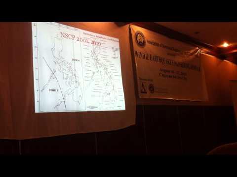 Presentation at 2013 ASEP Wind and Earthquake Engineering Seminar, Cagayan de Oro City