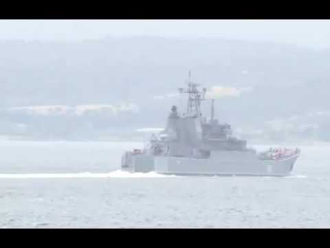 Russian intelligence ship SINKS after crashing into boat in Black Sea