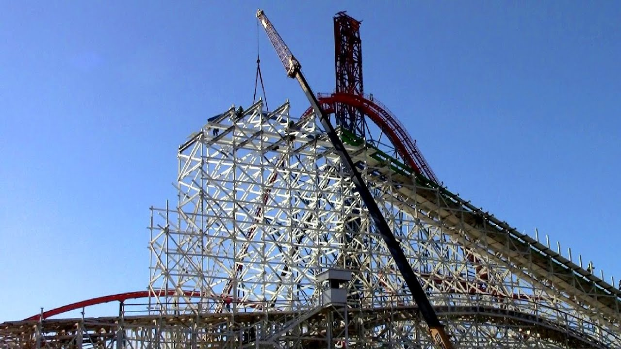 twisted colossus construction update hd six flags magic