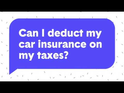 Ask The Zebra Anything | Can I Deduct My Car Insurance on My Taxes?