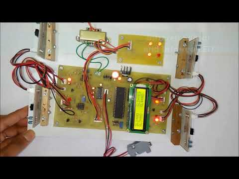 Automatic Car Parking Indicator System using 8051 - YouTube
