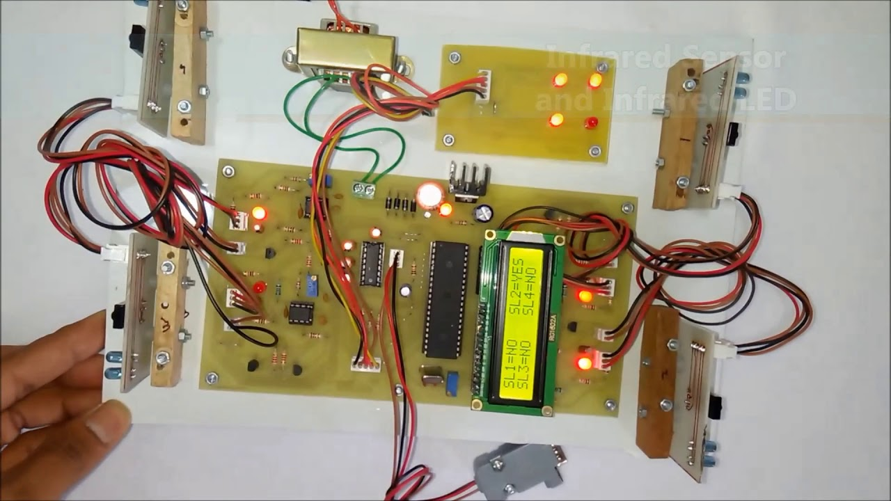 Automatic Car Parking Indicator System using microcontroller