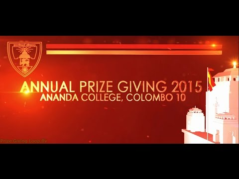 Ananda College Annual Prize Giving 2015