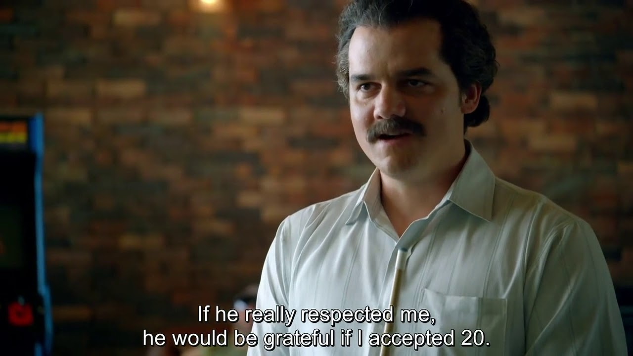 Pablo Escobar raises the war tax (Narcos S01E09 - Wagner Moura)