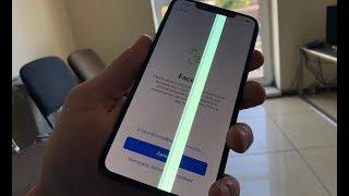 Полоса на экране iPhone XS Max - сгоревшие пиксели на OLED..?!