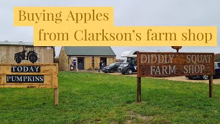 A mission to buy apples from Clarkson's diddly squat farm shop