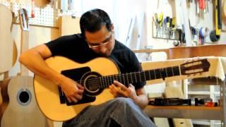 Guitarra Flamenca Negra de Concierto Marcos Méndez Ramírez